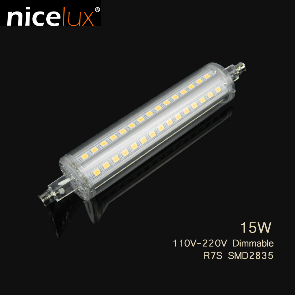 <font><b>Led</b></font> Bulb <font><b>R7S</b></font> SMD 2835 189mm <font><b>135mm</b></font> 118mm 78mm 220V 110V 15W 12W 10W 5W Light Tube Replace Halogen Floodlight Spotlight #2c image