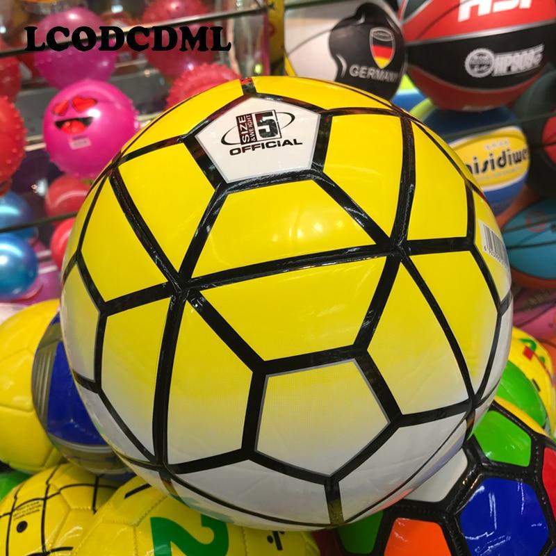 Yüksək keyfiyyətli böyüklər futbolu ölçüsü5 PU futbolunun - Komanda idman növləri - Fotoqrafiya 3