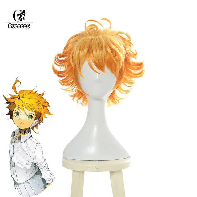 Us 17 86 35 Off Rolecos Anime The Promised Neverland Emma Cosplay Hair Yakusoku No Neverland Cosplay Headwear For Girl Women Synthetic Hair In