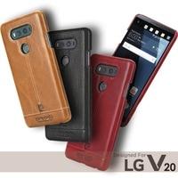 Pierre Cardin Stitched Genuine Leather Case For LG V20 V10 G4 G5 Hard Back Cover Luxury