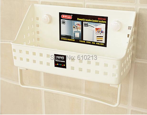 Home Bathroom Plastic Shower Gel Storage Rack Shampoo Holder Shelf ...