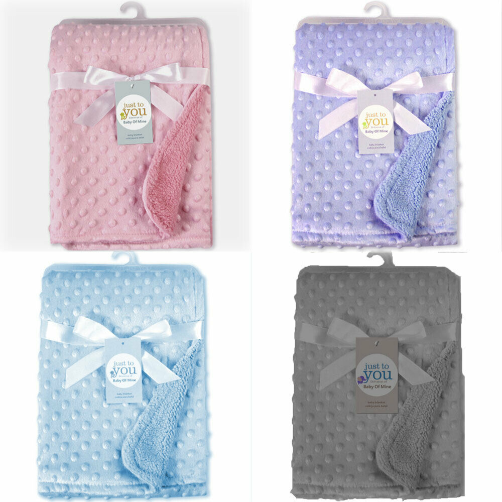 Personalised Luxury Baby Blanket Soft Lamb Wool Sleeping Wrap Embroidered Boy Girl New Baby Birth Gift Portable