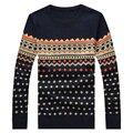 M-5XL Otoño invierno jersey de punto de los hombres suéter de la navidad hombres de la marca 2016 elegante jumpers suéteres para hombre con deer tire homme marca