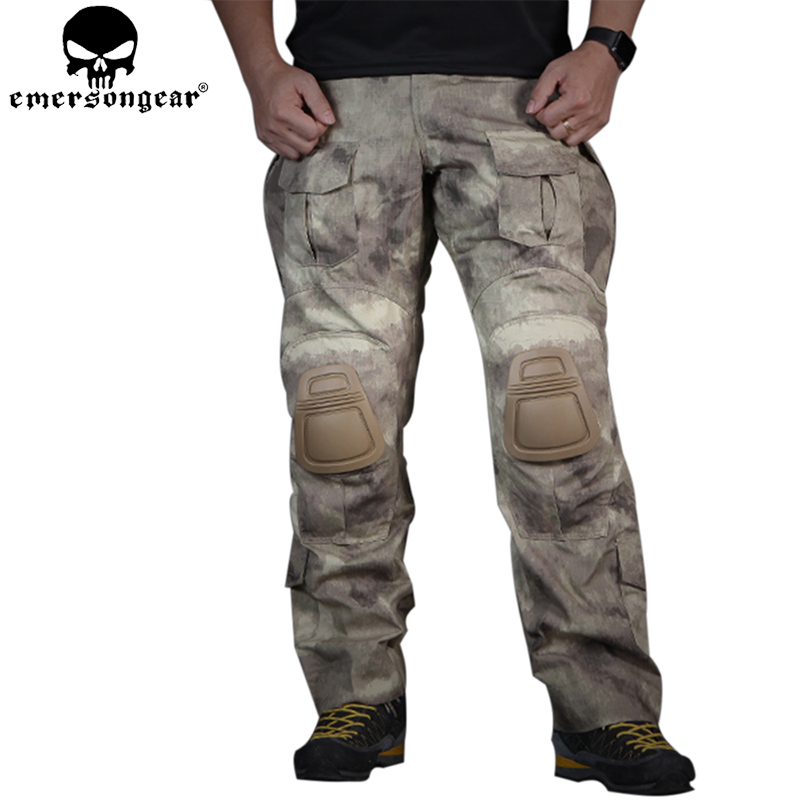 EMERSONGEAR Tactical Pants with Knee Pads Combat Airsoft Airsoft Camping Paintball Shooting BDU Pants Atacs EM7048