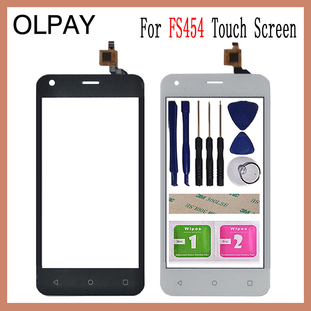 OLPAY 4.5'' For Fly FS454 Nimbus 8 FS 454 Touch Screen Digitizer Panel Repair Parts Touch Screen Front Glass Lens Sensor Tools