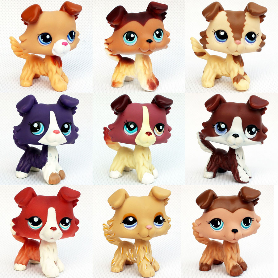 Original Pet Shop Lps Toys Collie Dogs #1262 #1542 #1194 Girls Birthday Gifts Old Original Animals Figures