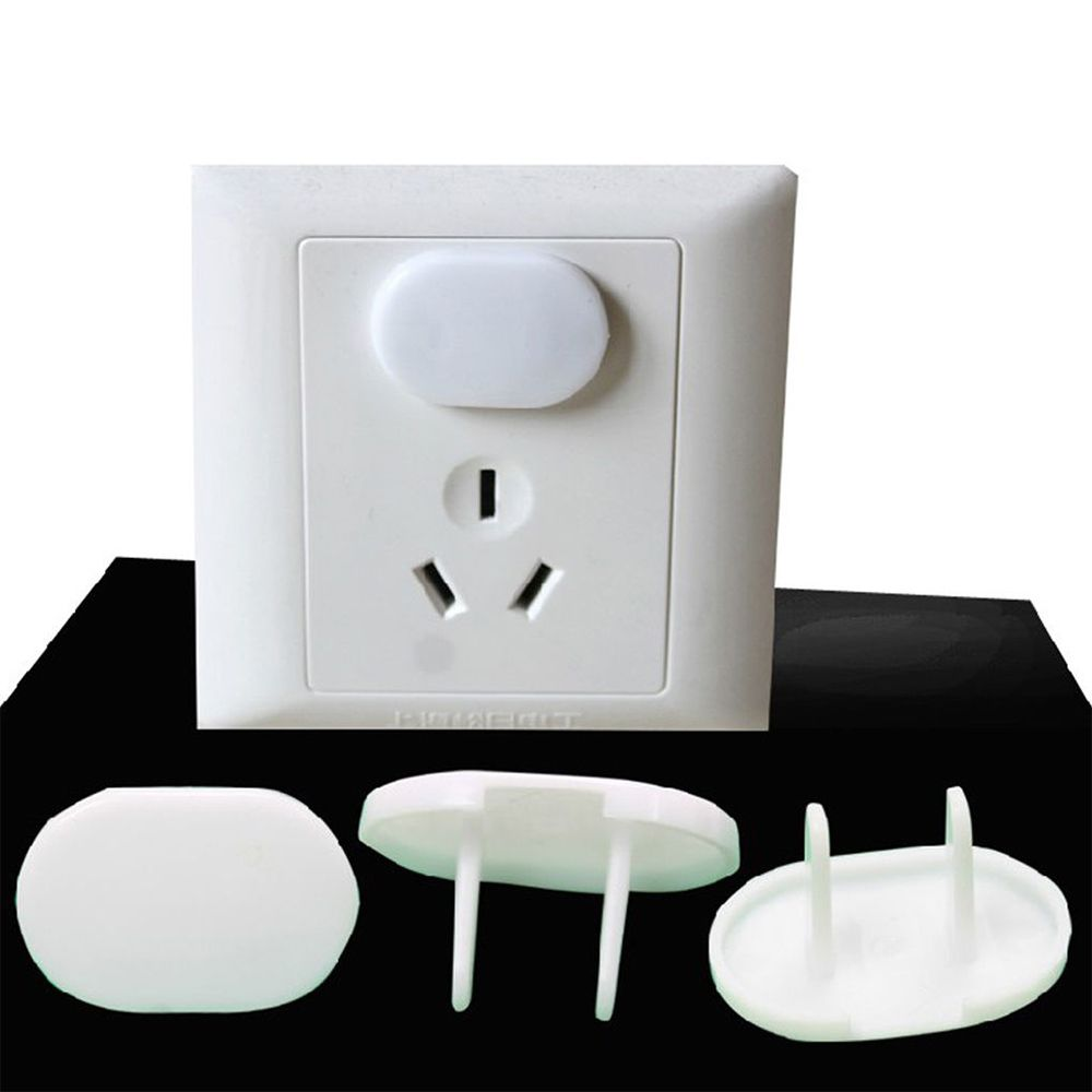20 Pcs Plastic Power Socket Outlet Plug Protective Cover Baby Safety Protector
