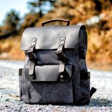 """MUCHUAN винтажные холщовые кожаные рюкзаки для мужчин 1"""" рюкзаки для ноутбука водонепроницаемый рюкзак из парусины большой вощеный рюкзак для путешествий"""
