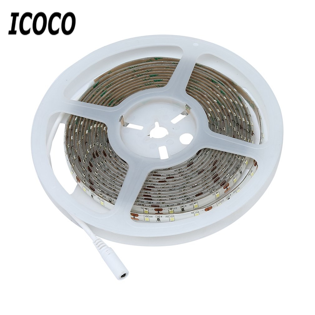 ICOCO High Quality 5M 300 LEDs Waterproof Hand Wave Sensor LED Strip Lamp Dimmable Cabinet LED Lighting 2A 12V New Arrival