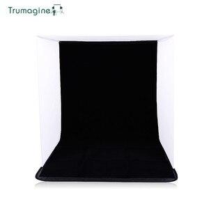 Image 3 - 60x60x60 cm portátil dobrável softbox fotografia estúdio suave caixa de luz tenda com 4 foto backdrops para iphone samsang htc dslr