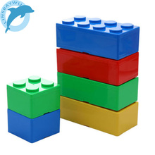 LINSBAYWU New Creative Storage Box Building Block Shapes Plastic Saving Space Box Superimposed Desktop Handy Office
