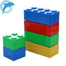 Plastový box s uzávěrem na hračky – tvar stavebnice Lego