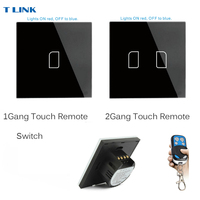 TLINK EU Standard Touch Switch 1 2 3 Gang 1 Way Wall Light Touch Screen Switch