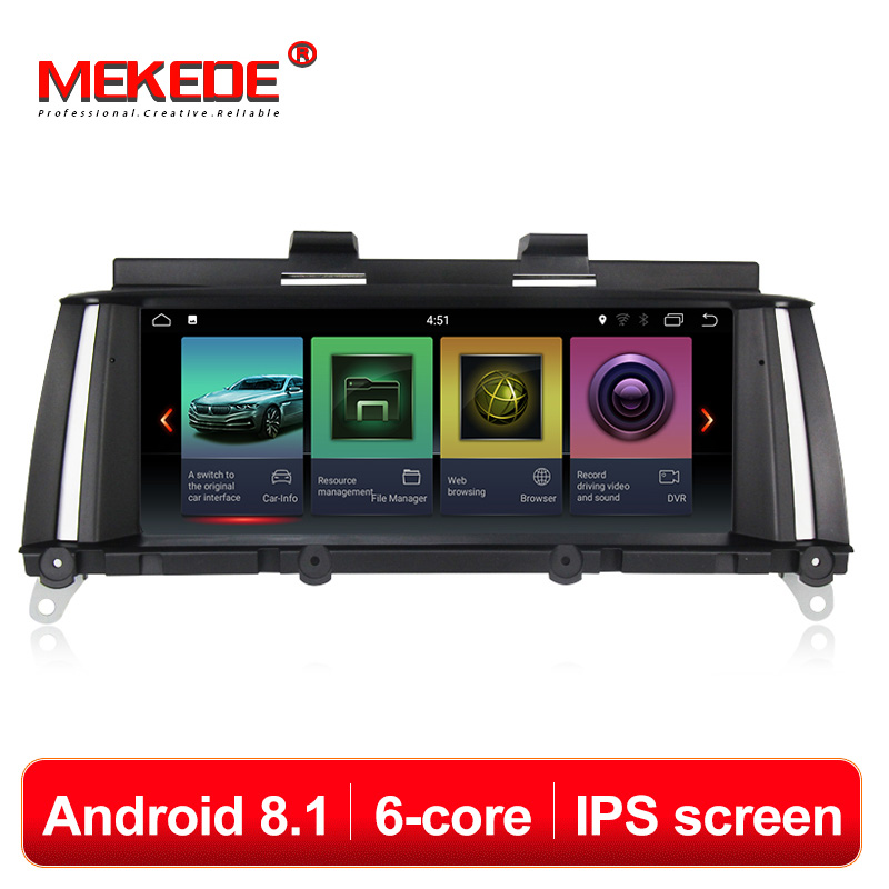 IPS ID7 PX6 6cores Android 8.1 System CAR Audio DVD FOR BMW X3 F25 BMW X4 F26 gps car Multimedia receiver car monitor screen