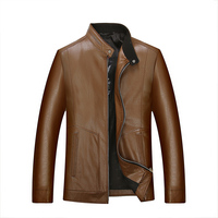 Top Quality Mens Business Leather Jackets Men Spring And Autumn Leather Clothing Men Leather Jackets Male