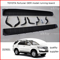 for TOYOTA old Fortuner 2011-2015 OEM model side step running board, aluminum alloy+ABS, original OEM model, promotion price