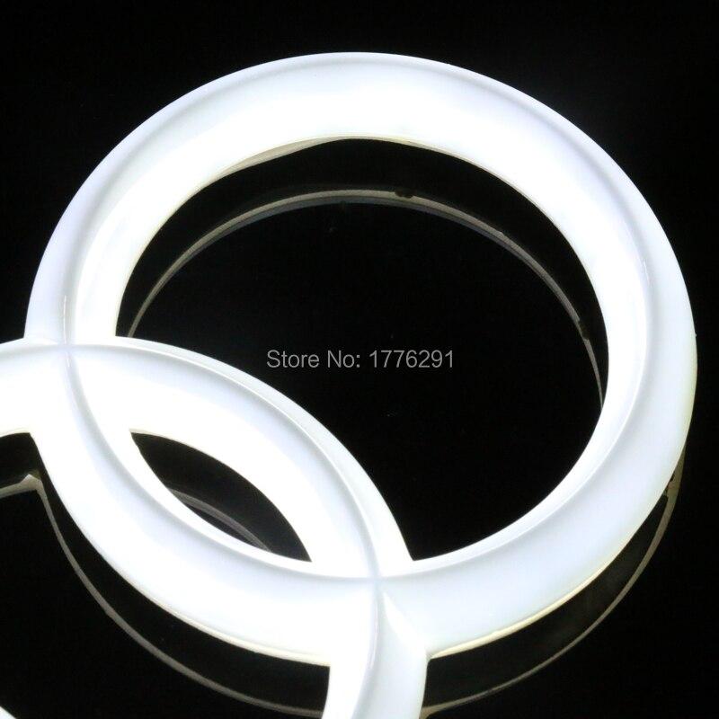 28 8x9 9cm 27x9 5cm 18x5 8cm White Red Blue Front Rear Emblem Light For AUDI