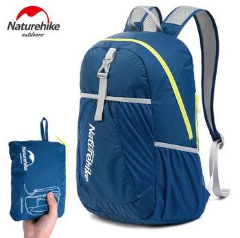 NatureHike Factory Store Folding Backpack Outdoor Ultra Light Backpack Men Women portable Waterproof Hiking Backpack 22L 1