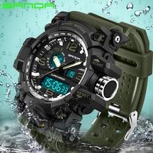 2018 SANDA Men's Military Sport Watch Men Top Brand Luxury Famous Electronic LED Digital Wrist Watch Male Relogio Masculino 742
