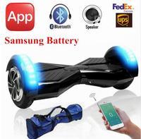 Samsung batería app llevó eléctrica hover monopatín tablero auto balance de scooter eléctrico por la borda de pie deriva mini hoverboard