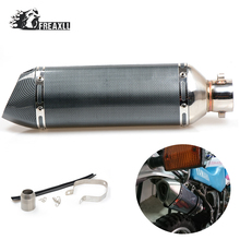 36-51MMModified Motorcycle Exhaust Pipe Muffler for Exhaust Moto escape Universal Fit ATV Quad For MV Agusta Moto Morini KTM цена