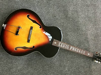 Classic G Custom Electric Guitar Hollow Body Jazz Guitar sunburst color F Holes without pickups Other Colors Available