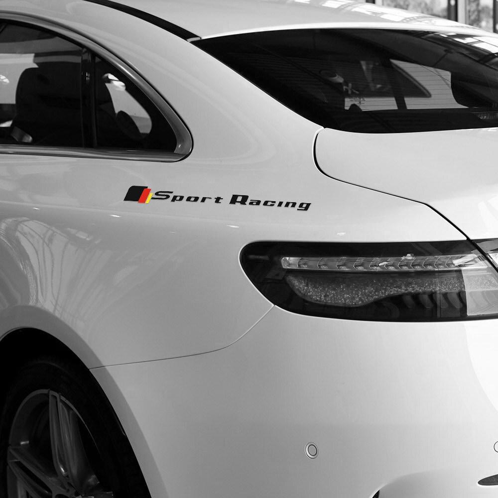Car styling sport racing rear fender car sticker and decal for mercedes benz w204 w205 c63 gla45 w212 w117 w176 c117 accessories
