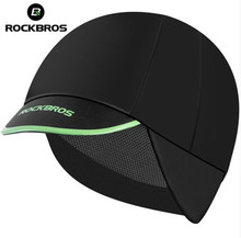 ROCKBROS Mens Cycling Caps Winter Thermal Fleece Outdoor Sports Riding Running Windproof Hats Ear Protection