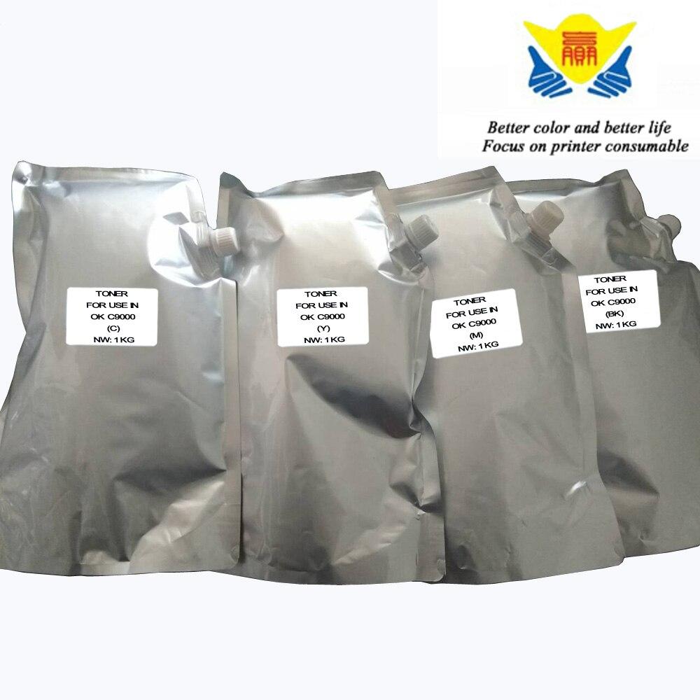 JIANYINGCHEN Compatible Color Toner Powder For OKI C9000 9150 9300 9500 Copier 4pcs lot 1kg per