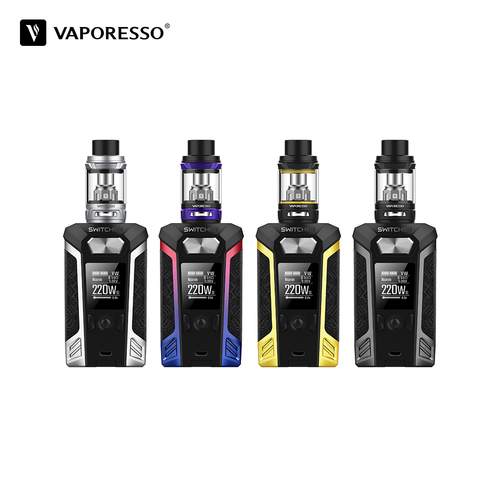Clearance Vaporesso Switcher Kit Electronic Cigarette With 2ml NRG Mini Tank 220W Box Mod VS vaporesso Revenger Vape