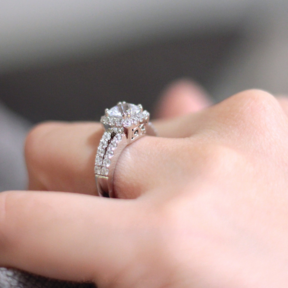 Ring For Women 2.56CTW Brilliant Cut Simulated Diamond S925 Sterling ...