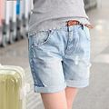 Shorts Women Jeans, Spring Summer Denim Short Pants Boyfriends Shorts Vintage Curling Selvedge Jeans Plus Size Women's Clothing