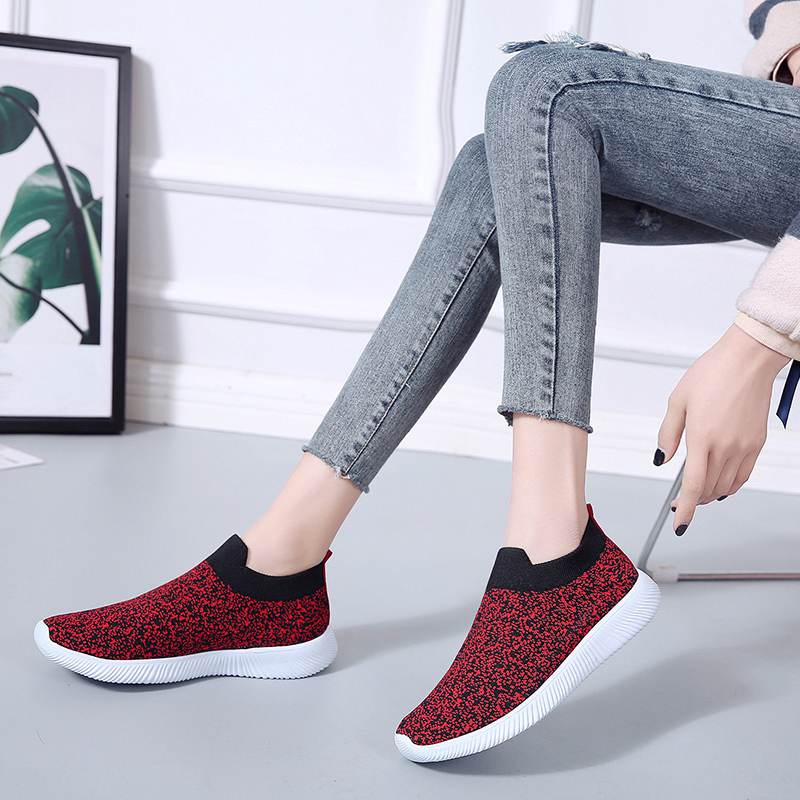 HTB1AbMPac vK1Rjy0Foq6xIxVXaN Rimocy plus size breathable air mesh sneakers women 2019 spring summer slip on platform knitting flats soft walking shoes woman