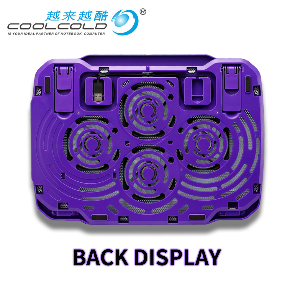 Laptop cooler with 2 fans 2 USB ports led light and <font><b>notebook</b></font> cooling pad for 15.6 <font><b>17</b></font> 18 19 inch Computer <font><b>stand</b></font> adjustable image