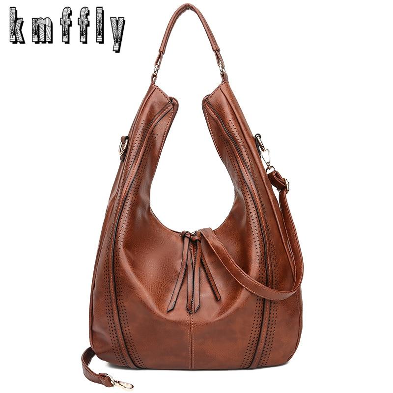 fe3e4248aadb US $20.0 |Fashion Hobos Women Handbag PU Leather Tassel Women Shoulder Bag  Female High Capacity Casual Tote Bags For Ladies Handbags-in Top-Handle ...