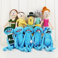 20pcs/lot 24-30cm Rick and Morty Mr. Meeseeks happy sad foamy caddy one eye face Mr. Poopybutthole Jerry Summer cute plush doll