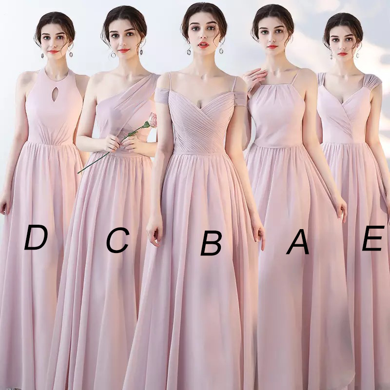 Mingli Tengda 2018 Vintage A Line Chiffon Bridesmaid Dresses Elegant Spaghetti Straps Woman Dresses for Party
