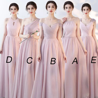 Mingli Tengda 2018 Vintage A Line Chiffon Bridesmaid Dresses Elegant Spaghetti Straps Woman Dresses for Party and Wedding