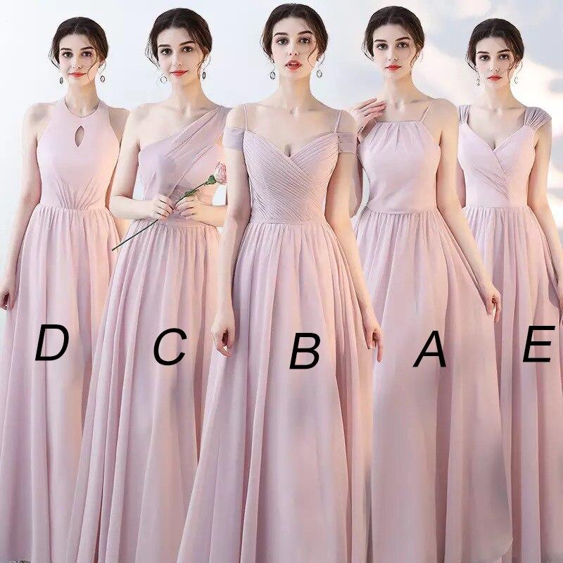 Mingli Tengda 2018 Vintage a-ligne en mousseline de soie robes de demoiselle d'honneur élégantes bretelles Spaghetti femme robes pour la fête et le mariage