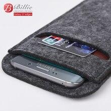 Универсальный Высокое Качество 5.7 дюймов Бумажник Case Шерсть Чувствовал Мешок Smartphone рукава Сумка Case Для samsung galaxy s6 edge Plus Телефон Сумка
