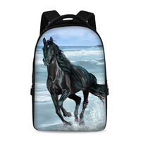 Horse Pattern Prints Backpacks For Teens Computer Bag Fashion School Bags For Primary Schoolbags Fashion Backpack