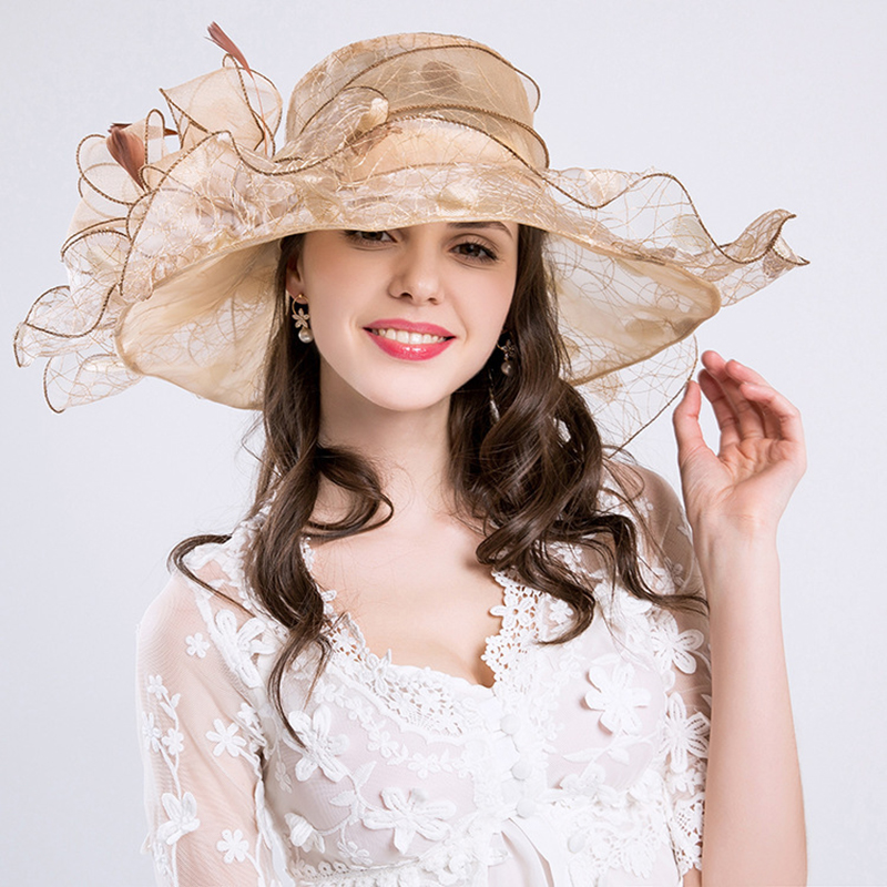 Fashion Elegant Women Gorras Hats Wedding Kentucky Derby