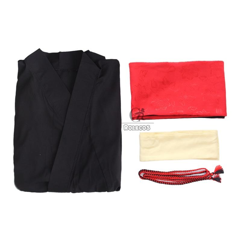 Rolecos Japanski Kimono Žene Tradicionalna crna Yukata Cosplay - Nacionalna odjeća - Foto 6