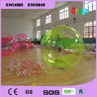 Бесплатная доставка 2 м раздувной Гуляя воды Шарики Зорб шары гигантский надувной пляжный мяч вода bubble ball