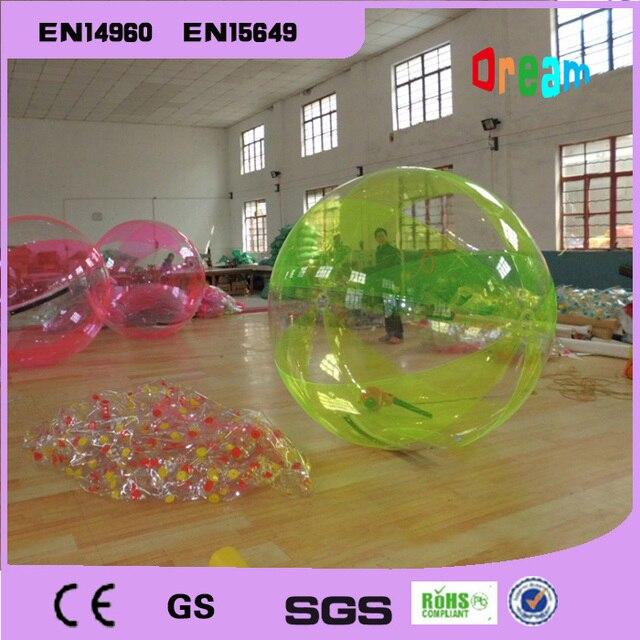 97b2c84fb3 Frete Grátis 2 m Balões Bolas Zorb Inflável Gigante Inflável Água Pé Bola  De Água Bola