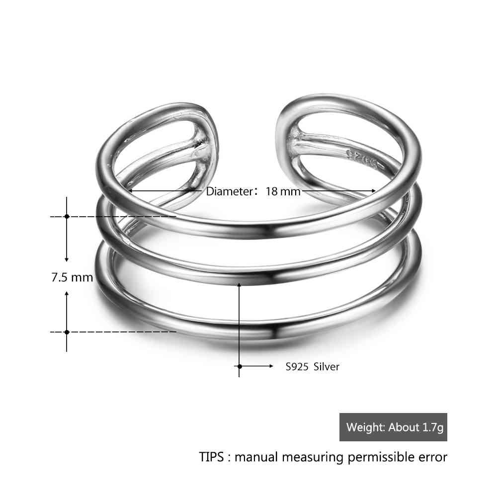 925 ασημένιο δαχτυλίδι ασήμι για τις - Κοσμήματα μόδας - Φωτογραφία 2