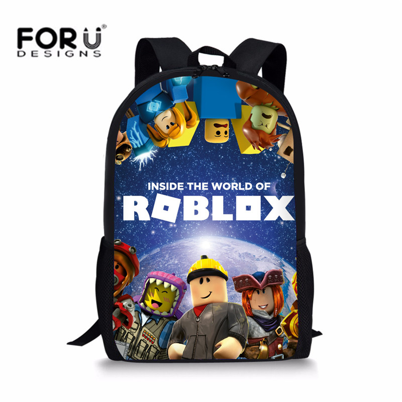 FORUDESIGNS Anime Game Roblox Student Backpack For Boys Girls School Bags  Children Bookbags Cartoon Action Toys bae7a9932838f