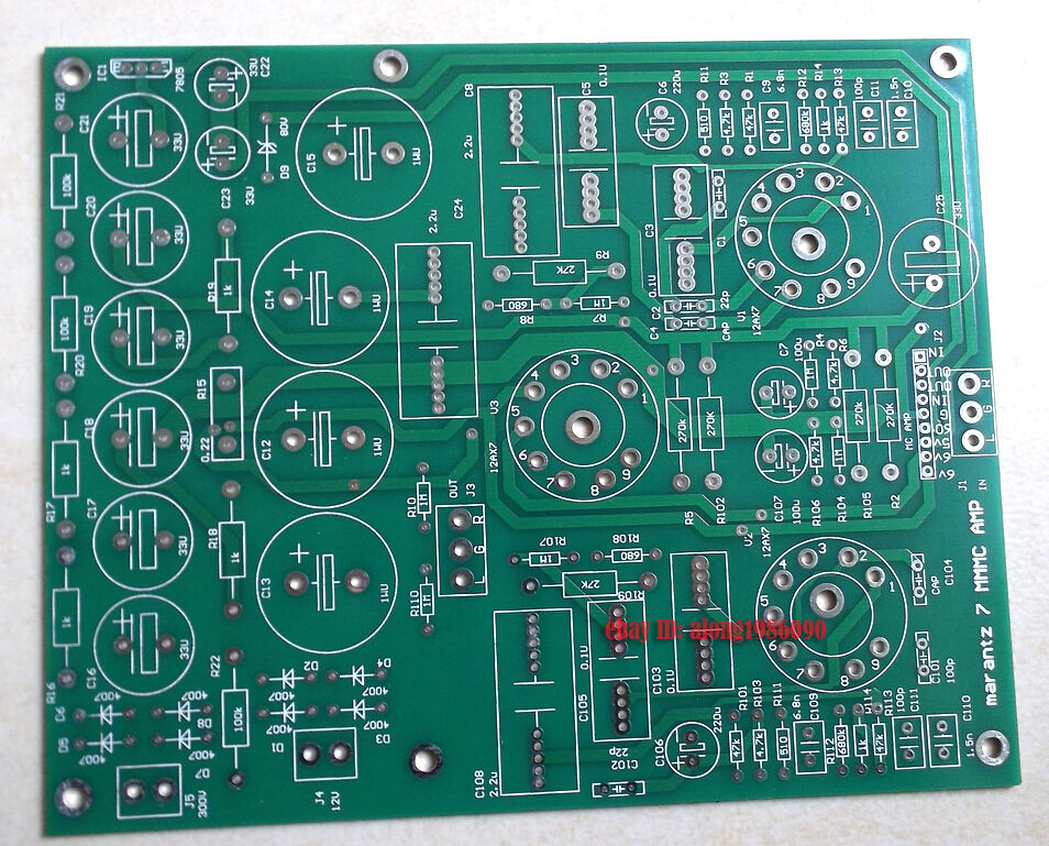 Marantz 7 <font><b>Tube</b></font> Preamplifier PCB / Vacuum <font><b>Tube</b></font> Phono <font><b>Amplifier</b></font> PCB image
