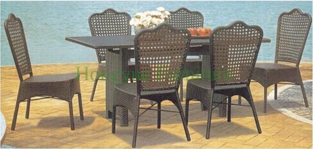 Patio jardín de mimbre comedor sillas de comedor muebles en Sets ...