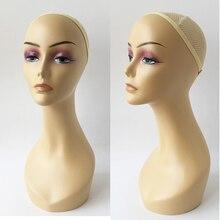 Europa und Amerika Weibliche Schaufensterpuppe Gliederpuppe Kopf 47 cm maniqui Modell Für Perücke Hut Schmuck Display